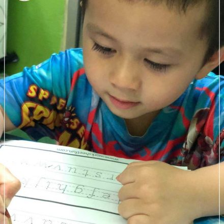 Nursery: Learning to write requires lots of work